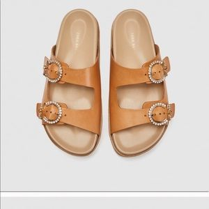 Brand New Zara leather Platform Sandals
